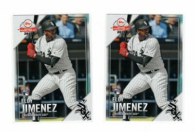 LOT OF 2 2019 Topps National Baseball Card Day Eloy Jimenez Rookie Cards