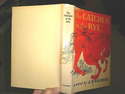 The Catcher in the Rye by J.D. Salinger  Book Club Edition fiction dust jacket
