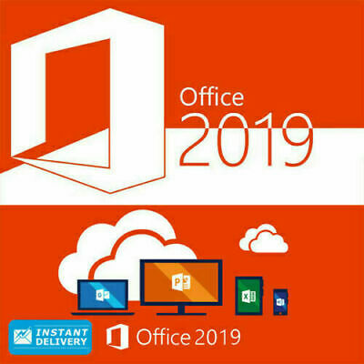 Microsoft Office 2019 Pro Plus 32/64 Lifetime License Genuine Key 1 PC / INSTANT