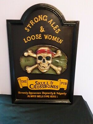 c0cff5d45204 POISON WARNING SKULL Crossbones Symbol Tin Metal Sign Vintage Rust ...