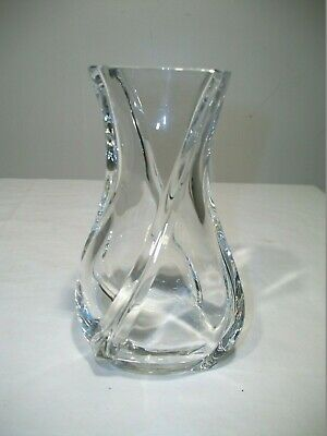 "Baccarat SERPENTIN Vase Crystal 6"" France FLAWLESS Condition w/double signature"