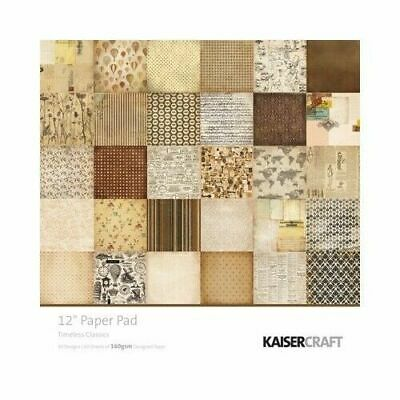 "Kaisercraft Timeless Classics 12""x12"" Paper Pad with 60 pages Free Postage"