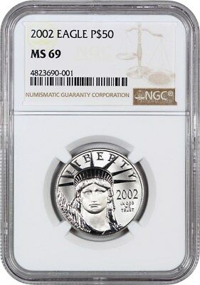 2002 Platinum Eagle NGC MS69 - Statue Liberty 1/2 oz