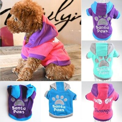 Small Dogs Soft Pet Dog Sweater Chihuahua Pullover Hooded Clothes Outfit Sweater