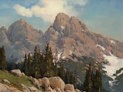 """Mountain Landscape Oil painting Art Giclee HD Printed on canvas 16X20"""" P070"""