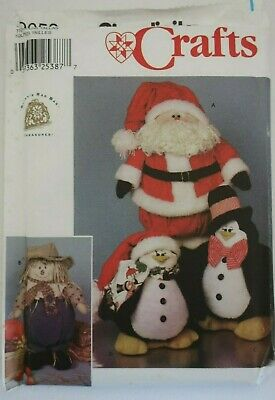 SIMPLICITY Craft 9953 Sewing pattern PENQUINS, SANTA, SCARECROW toy - doll