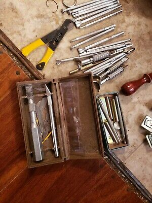 Case of Leather Working Tools, Punches, Knives,