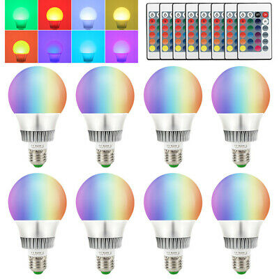Multi Color Change Magic Light 10W E26 RGB LED Bulb Memory Lamp+Wireless Remote