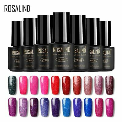 ROSALIND 29 Colors Varnish Gel Nail Polish Semi Rainbow Series Permanent Lacquer