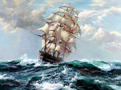 """HD Print sea voyage Ship Oil painting Art Giclee Printed on Canvas 16""""X20"""" P110"""