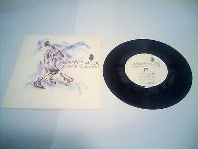 Depeche Mode Everything Counts 7 Inch vinyl Single  very good condition +