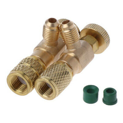 """Air Conditioning Refrigeration Charging Adapter for R22/R410A 1/4"""" Safety Valve"""