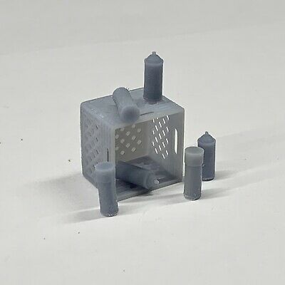 Resin Lot of 6 Spray Paint Cans for Graffiti Tagged Diorama Display 1/24 1/25