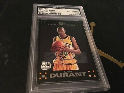 Kevin Durant 2007 08 Topps Finest Rc Rookie Card Auto Psa