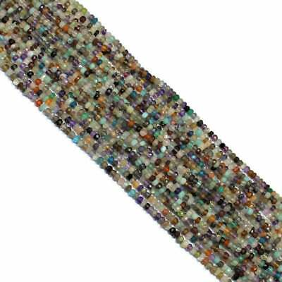"""Natural Multi Precious Stone Beads Faceted Rondelle, Size 3.5 to 4 mm 13"""" Strand"""