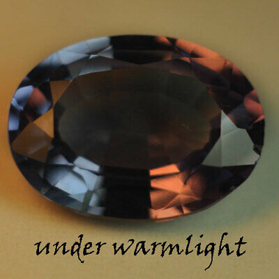 3.65ct.AWESOME RUSSIAN COLOR CHANGE ALEXANDRITE OVAL GEMSTONE