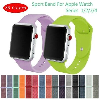 Sport Silicone Nylon Strap Apple Watch iWatch Band 38/42mm Smart Wristband