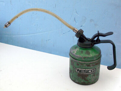WESCO OIL CAN (Green) Made in Birmingham with flexible nozzle