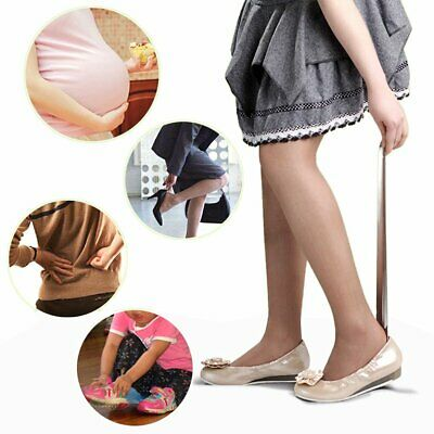 52cm Long Stainless Steel Shoe Horn Metal Boot Wellie Remover Disability TU