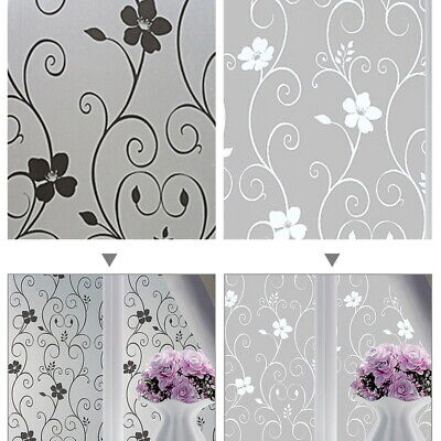 Privacy White Frosted Window Film Bathroom Home Decor Frost Etched Glass Vinyl
