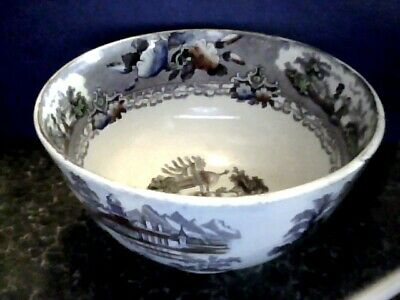 antique scottish pottery slop bowl andalusia annfield pottery glasgow