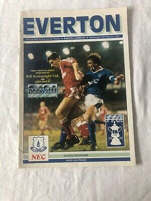Everton Official Programme Everton v Liverpool 27th February 1991 - 2ND REPLAY