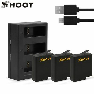 SHOOT 1220mAh AHDBT-501 Battery Pack with USB Charger for GoPro Hero 7 6 5 Black