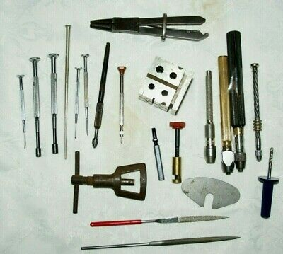 Collection Of Antique/Vintage Clock/Watchmakers Tools, Spares/Repair
