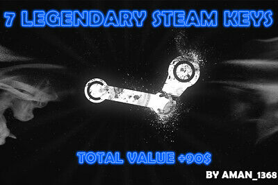 7 LEGENDARY Random Steam Keys INSTANT DELIVERY Worth Value + 90$