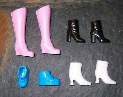 BARBIE DOLL SHOES n44 - 4 PAIRS of ASSORTED BOOTS