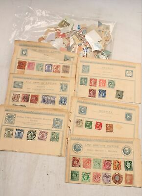 Collection of Approx 50 Mixed Antique/Vintage STAMPS incl QV PENNY RED - S45