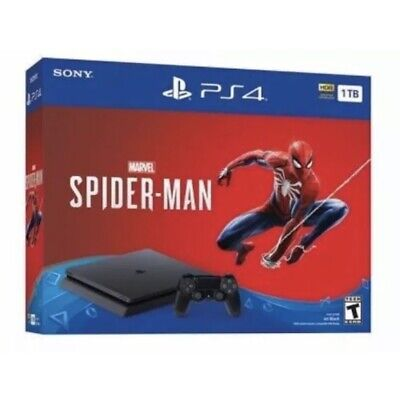 Sony Playstation 4 Slim 1Tb Console Spider-Man Black Friday Bundle Ps4 New