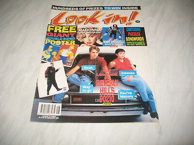 Look-In magazine Junior TV Times 1991 23 February No. 8 Beverly Hills 90210