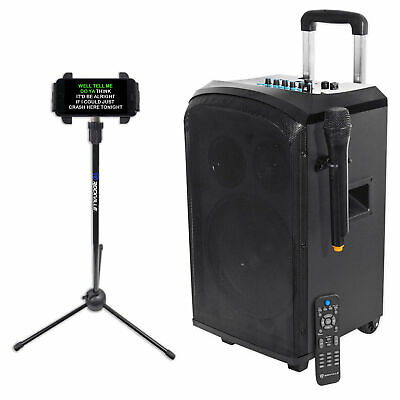 """Rockville 10"""" Portable Bluetooth Karaoke Machine/System+Microphone+Tablet Stand"""
