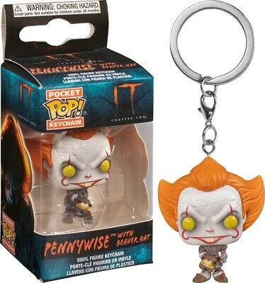 Funko Pocket Pop Keychain: IT Chapter Two™ - Pennywise™ with Beaver Hat #40651