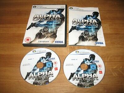 PC game - Alpha Protocol The Espionage RPG boxed complete