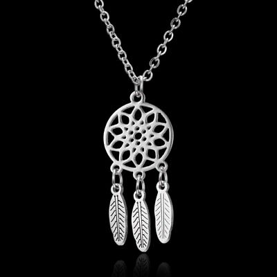 Silver Stainless Steel Pendant Necklace Fashion Men Women Unisex Jewelry Gift