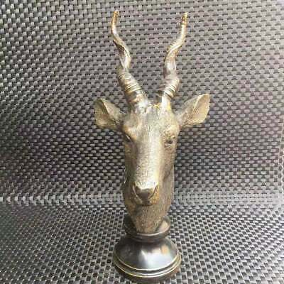 Ancient Chinese brass deer head decoration collection   XM70    012