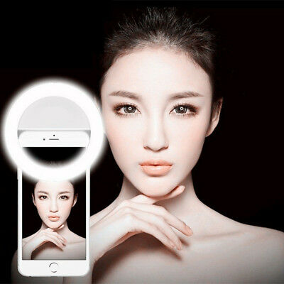 PM_ Selfie Portable LED Ring Fill Light Camera Photography for iPhone Android