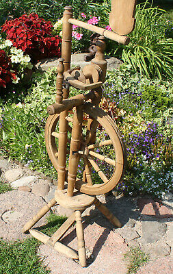 Antique RARE wooden spinning wheel, 19th century, EXTRA QUALITY
