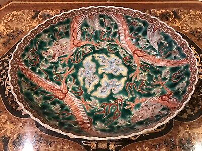 Antique Chinese Famille Rose Porcelain Deep Plate