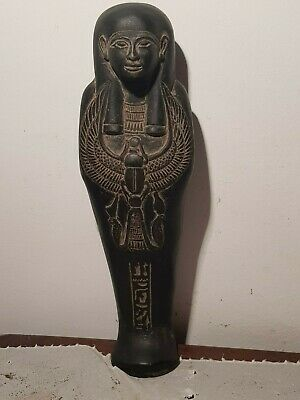 Rare Antique Ancient Egyptian Ushabti Servant Dead Scarab protection 1810-1740BC
