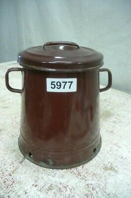 5977. Alter Emaille Email Topf Old enamel pot