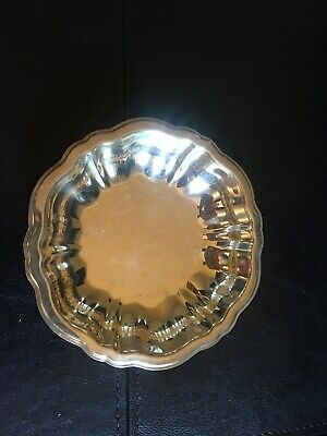 "Vintage WMA Rogers Scalloped Edge Silver Plated Bowl 5 5/8"" Candy/Nut Dish."
