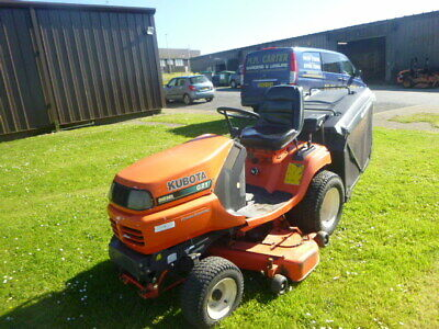 Kubota G21 direct collect diesel ride on mower compact tractor 21hp tidy 2008