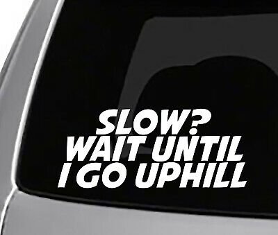 If You Think This Is Slow Wait Until We Go Up Hill Decal Sticker #359