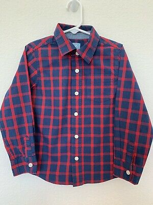 Baby GAP Boys Size 5 Years Button Down Plaid Dress Shirt