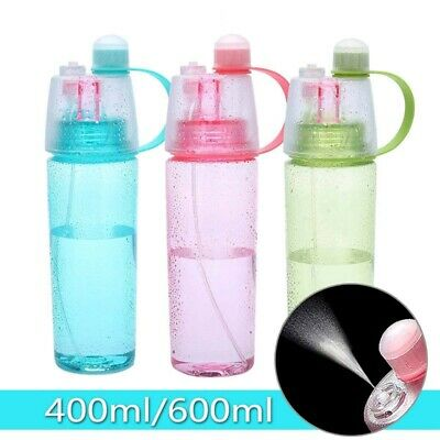400/600ML Water Bottle With Straw Drink Spray Cup Climbing Cycling Hiking Sports