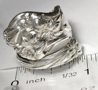 Watson Mechanics Lily Hand Made Sterling Silver Spoon Ring Free Shipping