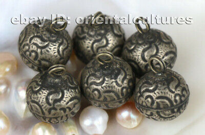 Vintage tribal exotic chinese handmade miao silver costume's clasp 3piece